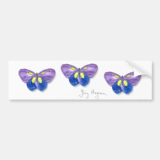 Pegatina para el parachoques de las mariposas etiqueta de parachoque
