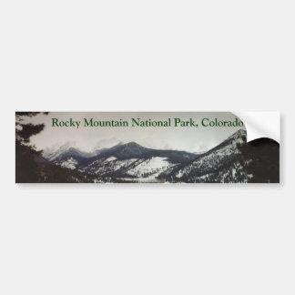 Pegatina para el parachoques de las montañas rocos etiqueta de parachoque