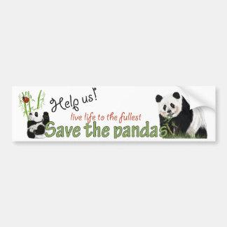 pegatina para el parachoques de las pandas pegatina de parachoque