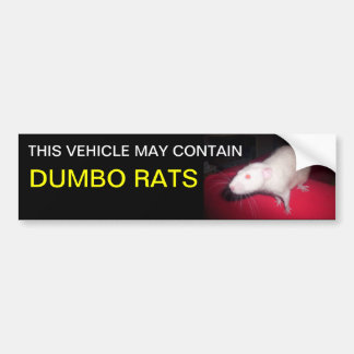 Pegatina para el parachoques de las ratas de Dumbo Pegatina Para Auto