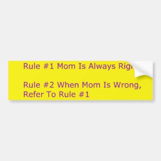 Pegatina para el parachoques de las reglas de las pegatina para auto