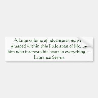 Pegatina para el parachoques de Laurence Sterne de Etiqueta De Parachoque