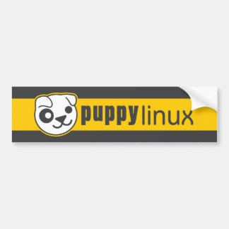 Pegatina para el parachoques de Linux del perrito Etiqueta De Parachoque