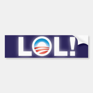 Pegatina para el parachoques de LOL Obama Pegatina Para Auto
