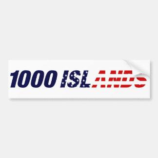 Pegatina para el parachoques de los 1000 E.E.U.U.  Pegatina Para Auto