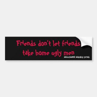 Pegatina para el parachoques de los amigos (1) pegatina para auto