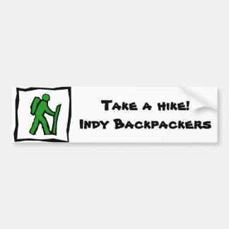 Pegatina para el parachoques de los Backpackers de Pegatina Para Auto