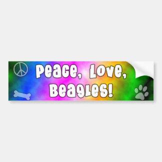 Pegatina para el parachoques de los beagles del am etiqueta de parachoque