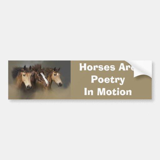 Pegatina para el parachoques de los caballos salva pegatina para auto
