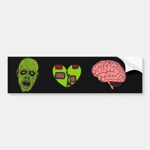 Pegatina para el parachoques de los cerebros del c etiqueta de parachoque