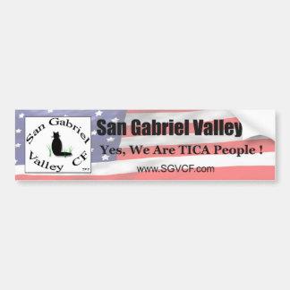 Pegatina para el parachoques de los CF de San Gabr Pegatina Para Auto