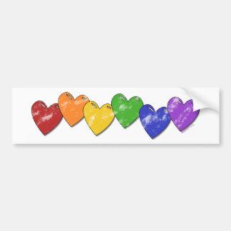 Pegatina para el parachoques de los corazones del  pegatina para auto