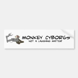 Pegatina para el parachoques de los Cyborgs del mo Pegatina Para Auto