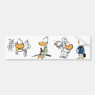 Pegatina para el parachoques de los dibujos etiqueta de parachoque