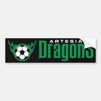 Pegatina para el parachoques de los dragones de Ar Pegatina De Parachoque