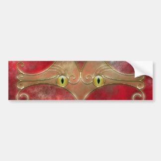 Pegatina para el parachoques de los Gato-Ojos Pegatina Para Auto