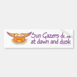 Pegatina para el parachoques de los Gazers de Sun Pegatina Para Auto