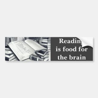 Pegatina para el parachoques de los libros pegatina para auto