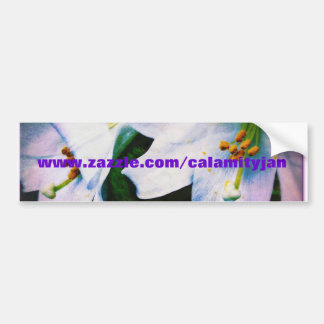 Pegatina para el parachoques de los lirios de Cala Pegatina De Parachoque