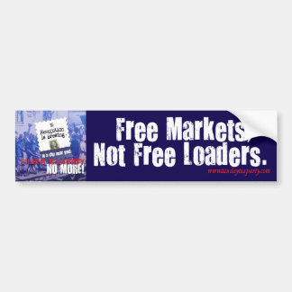 Pegatina para el parachoques de los mercados libre etiqueta de parachoque