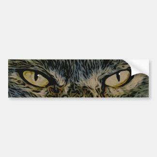 Pegatina para el parachoques de los ojos de gato pegatina para auto