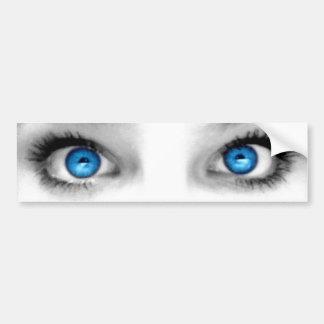 Pegatina para el parachoques de los ojos que miran pegatina para auto