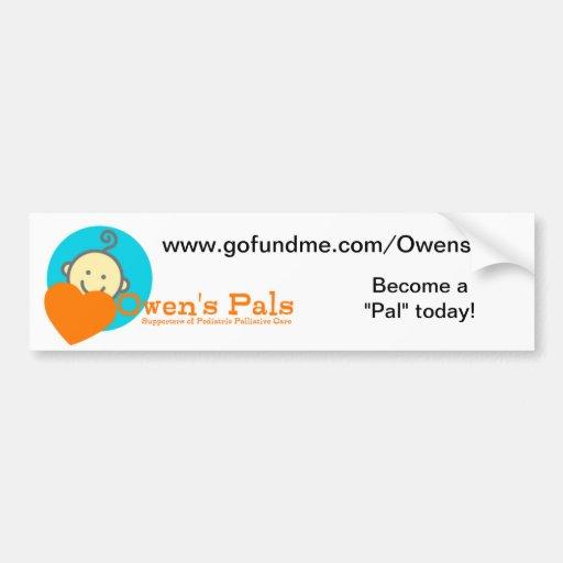 Pegatina para el parachoques de los Pals de Owen Pegatina De Parachoque