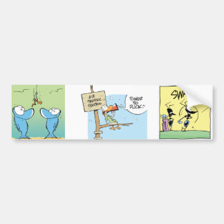 Pegatina para el parachoques de los personajes de  etiqueta de parachoque