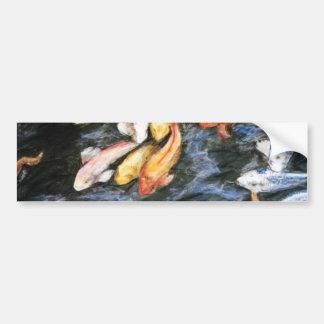 Pegatina para el parachoques de los pescados de Ko Pegatina De Parachoque