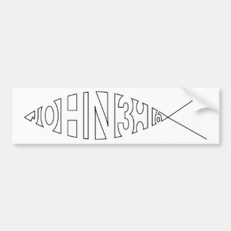 Pegatina para el parachoques de los pescados del 3 pegatina para auto