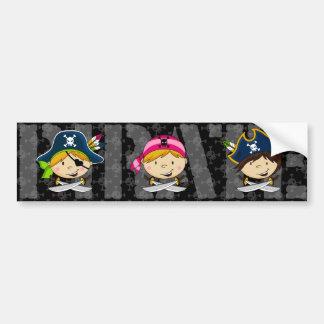 Pegatina para el parachoques de los piratas pegatina para auto