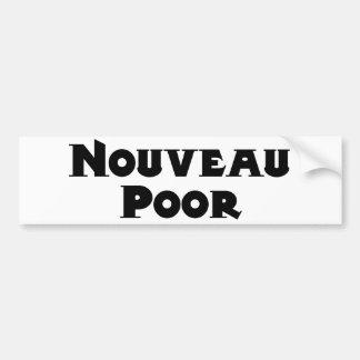 Pegatina para el parachoques de los pobres de Nouv Pegatina Para Auto