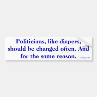 Pegatina para el parachoques de los políticos pegatina para auto
