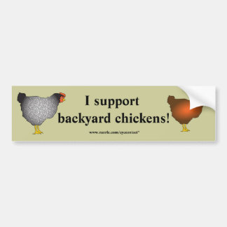 Pegatina para el parachoques de los pollos del pat pegatina para auto