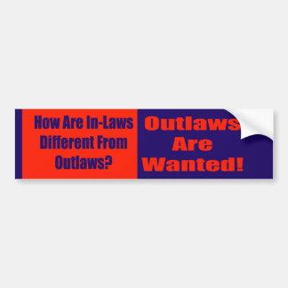 Pegatina para el parachoques de los proscritos de  etiqueta de parachoque