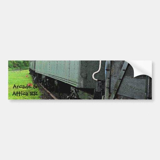 Pegatina para el parachoques de los Railcars del v Etiqueta De Parachoque
