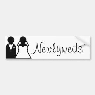 Pegatina para el parachoques de los recienes casad etiqueta de parachoque