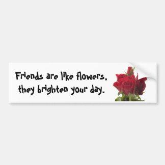 Pegatina para el parachoques de los rosas rojos… pegatina para auto