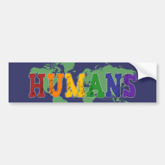 Pegatina para el parachoques de los seres humanos  pegatina para auto