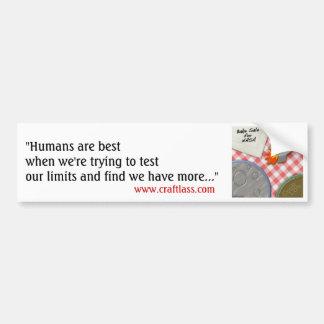 """Pegatina para el parachoques de los """"seres humanos pegatina para auto"""