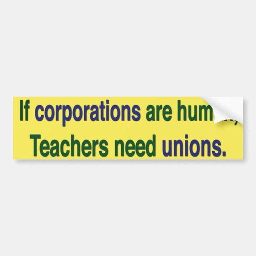 Pegatina para el parachoques de los sindicatos de  etiqueta de parachoque