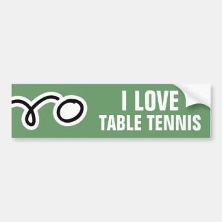 Pegatina para el parachoques de los tenis de mesa  pegatina para auto