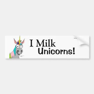 Pegatina para el parachoques de los unicornios de pegatina para auto