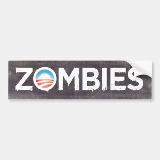 Pegatina para el parachoques de los zombis de Obam Pegatina Para Auto