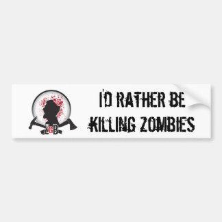 PEGATINA PARA EL PARACHOQUES de los zombis de ZGB  Pegatina De Parachoque