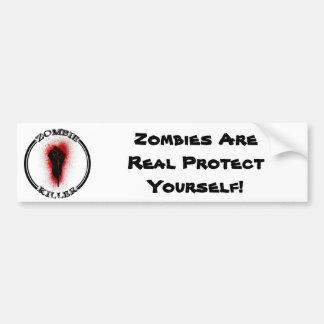 Pegatina para el parachoques de los zombis pegatina para auto
