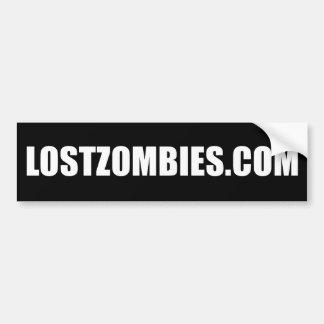 Pegatina para el parachoques de LOSTZOMBIES.COM Etiqueta De Parachoque