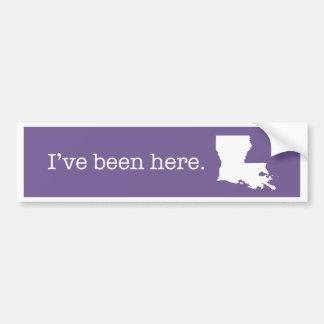 Pegatina para el parachoques de Luisiana Pegatina Para Auto
