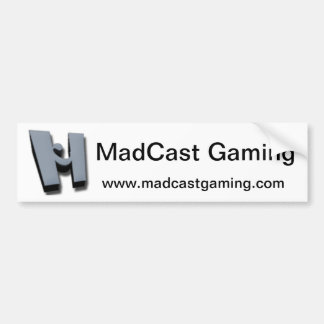 Pegatina para el parachoques de MadCast Pegatina Para Auto