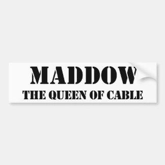 Pegatina para el parachoques de Maddow Pegatina De Parachoque
